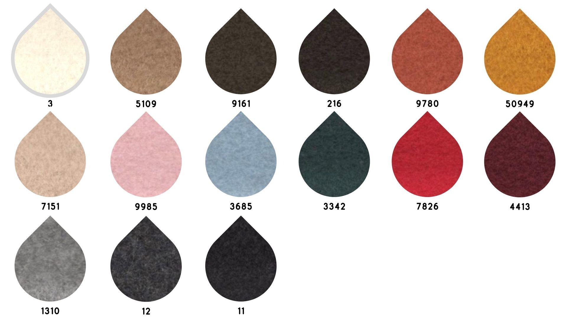 la cartella colore del tessuto 1164 di Leadford & Logan