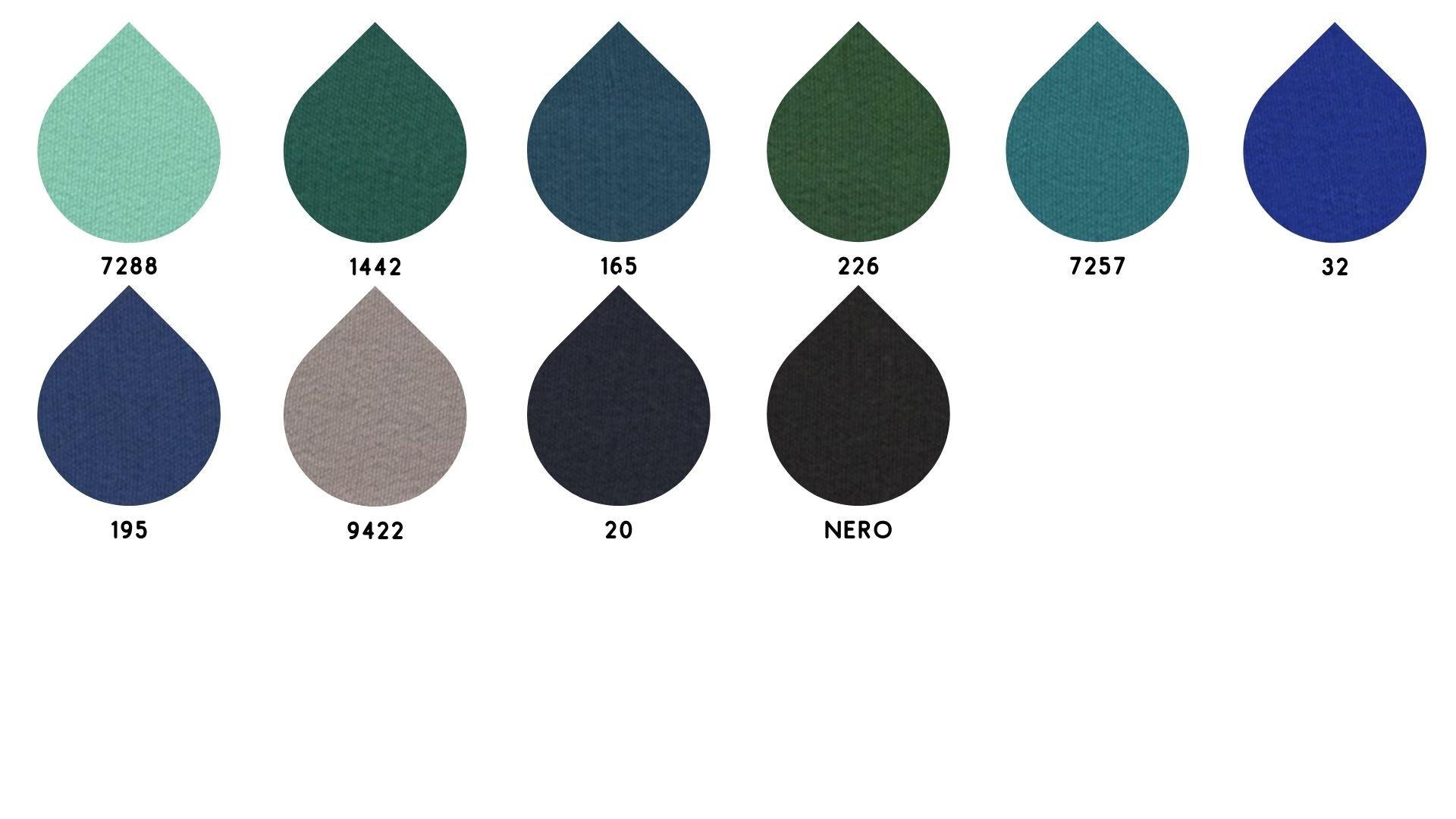 la cartella colore del tessuto 1214 Crepe de Chine di Leadford & Logan
