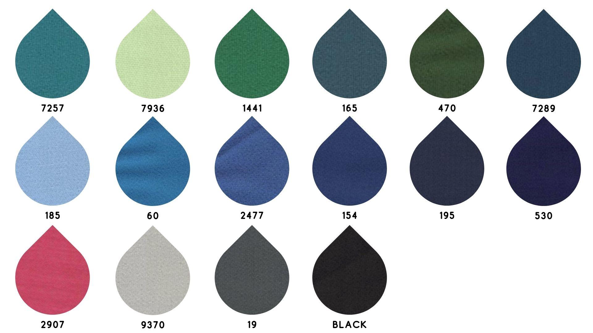 la cartella colore del tessuto 1817 di Leadford & Logan