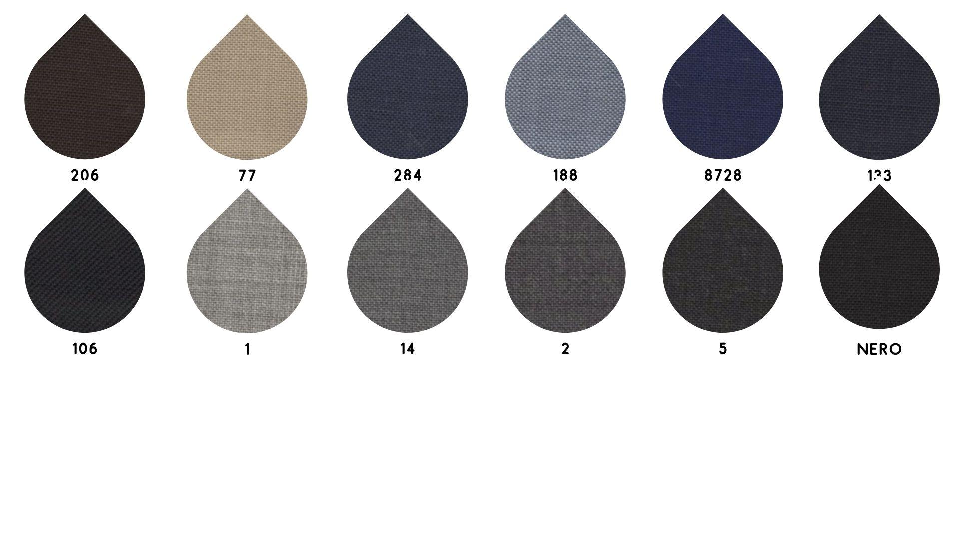 la cartella colore del tessuto 252 tela master di Leadford & Logan