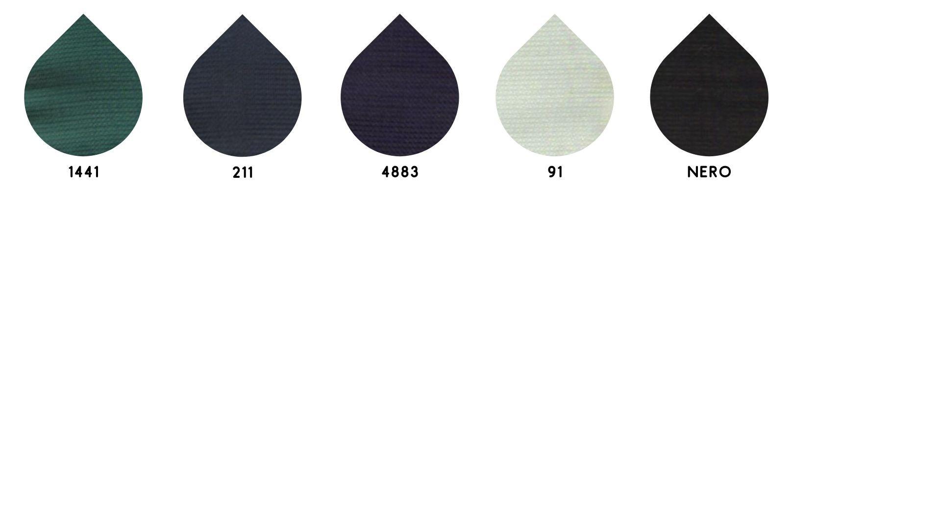 la cartella colore del tessuto 6026 iride di Leadford & Logan