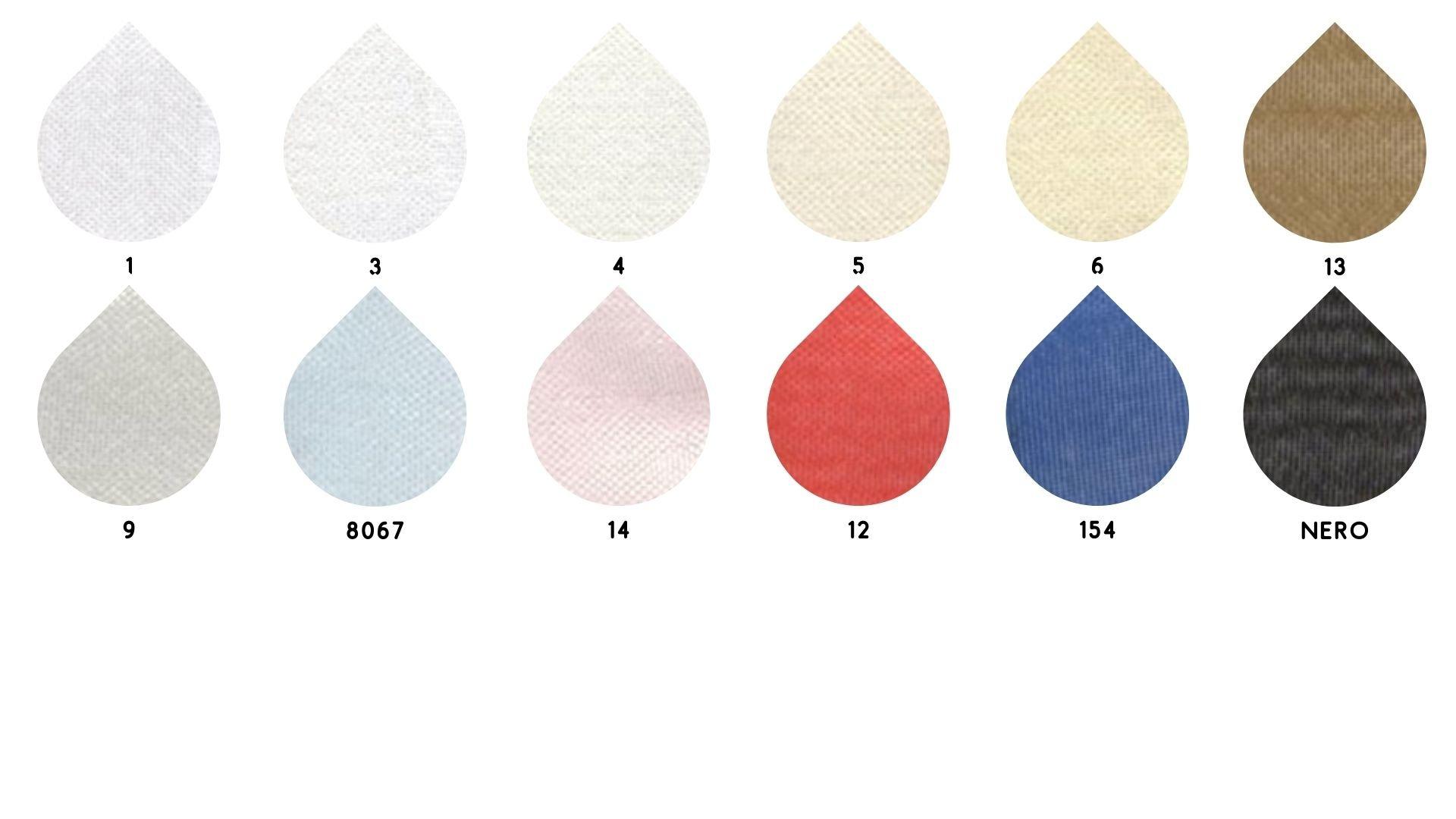la cartella colore del tessuto 6030 organza di Leadford & Logan