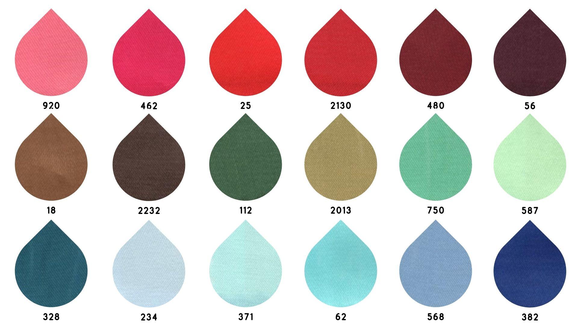 la cartella colore del tessuto 6522 di Leadford & Logan