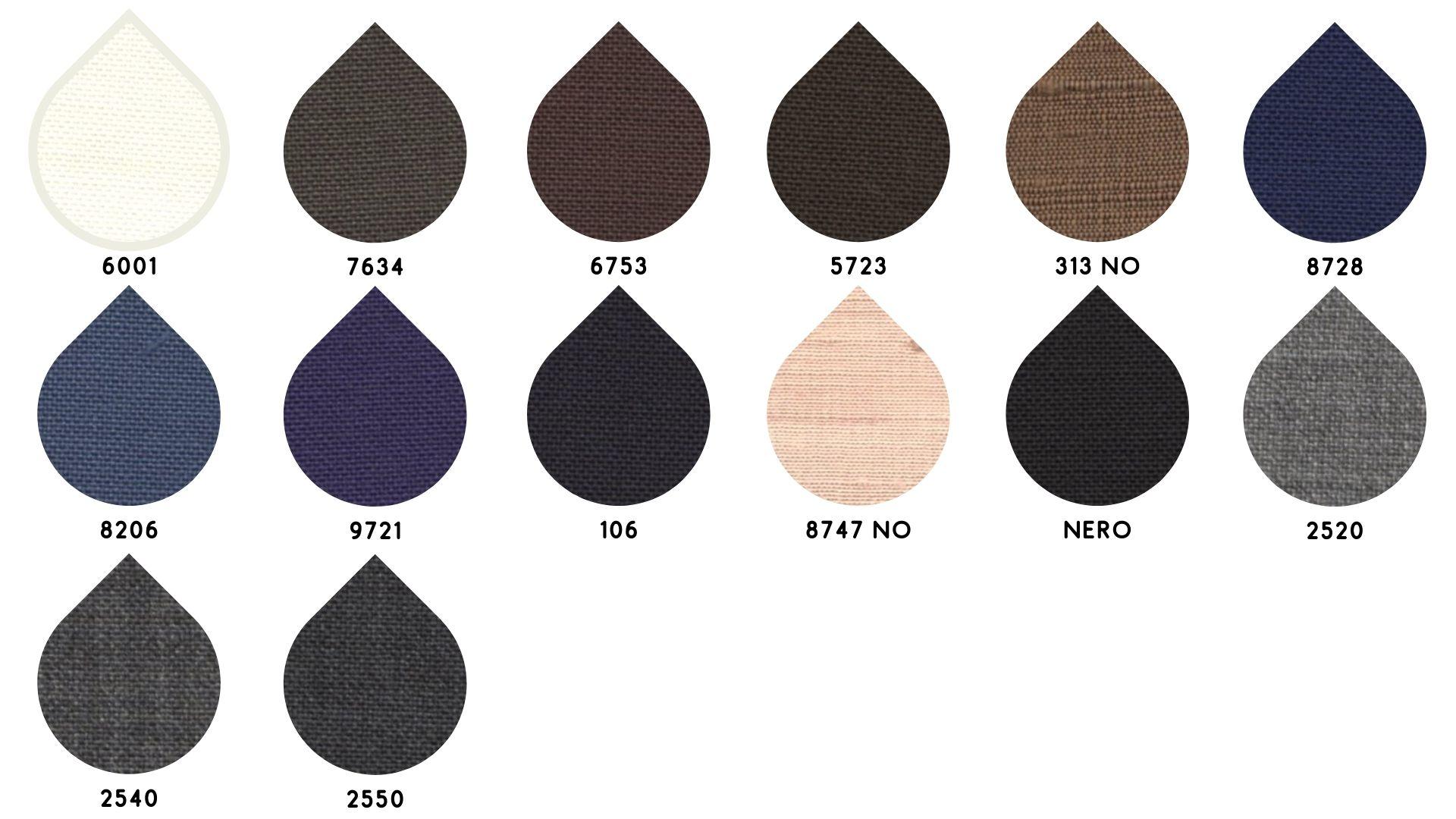 la cartella colore del tessuto 9102 di Leadford & Logan