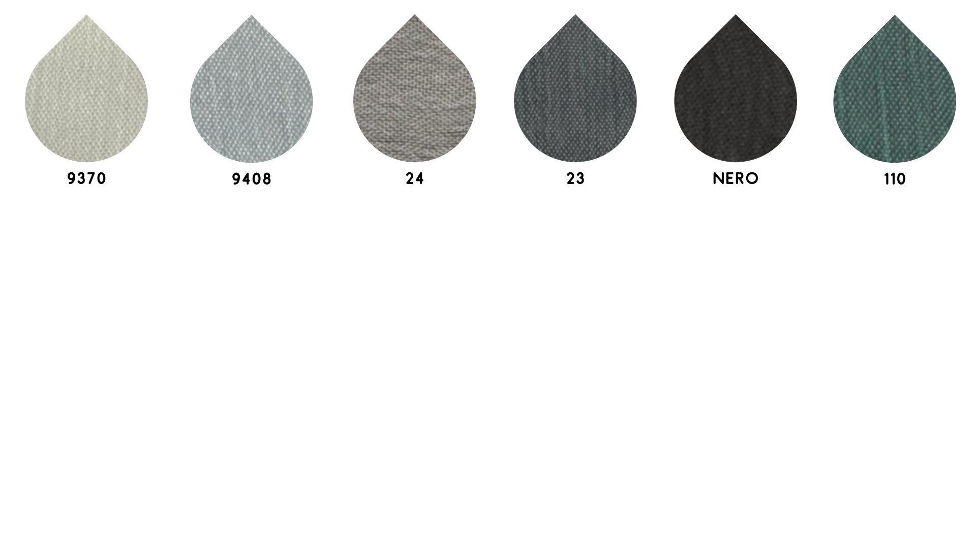 la cartella colore del tessuto chiffon lampo di Leadford & Logan