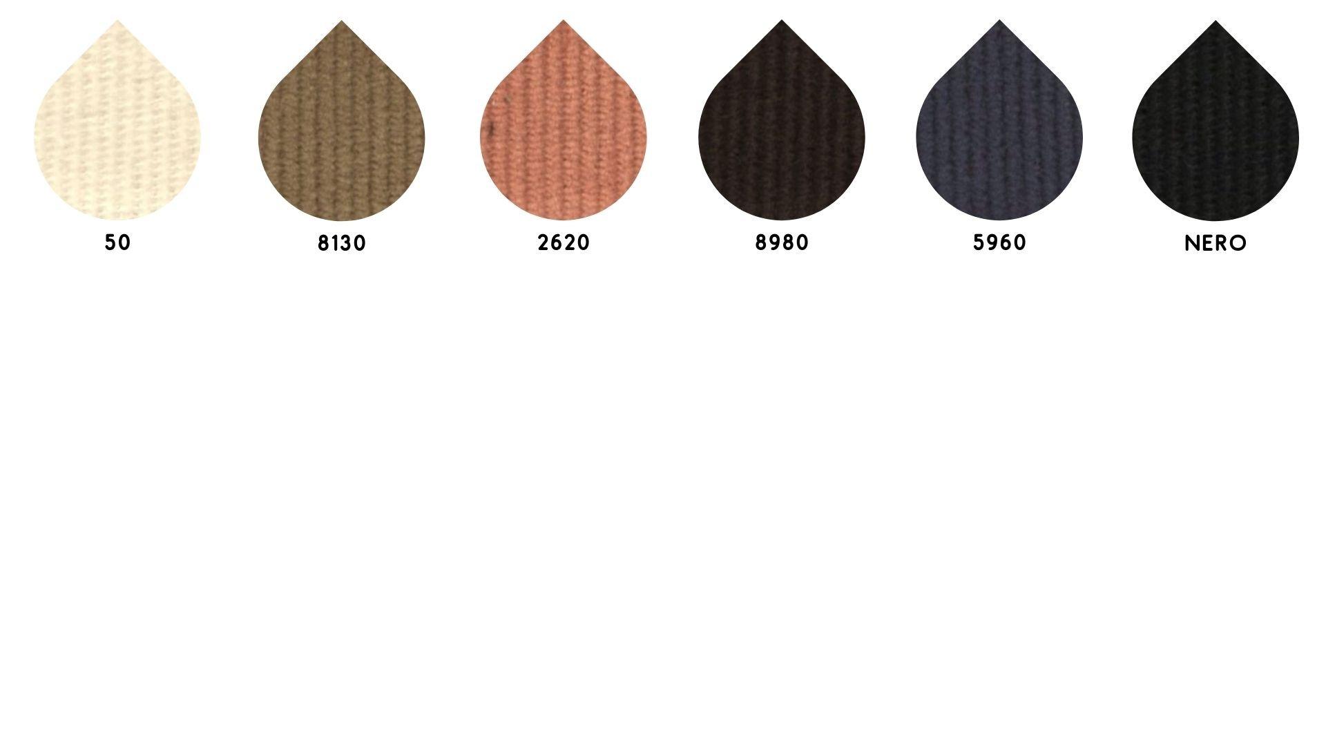 la cartella colore del tessuto fit1000 velluto di Leadford & Logan