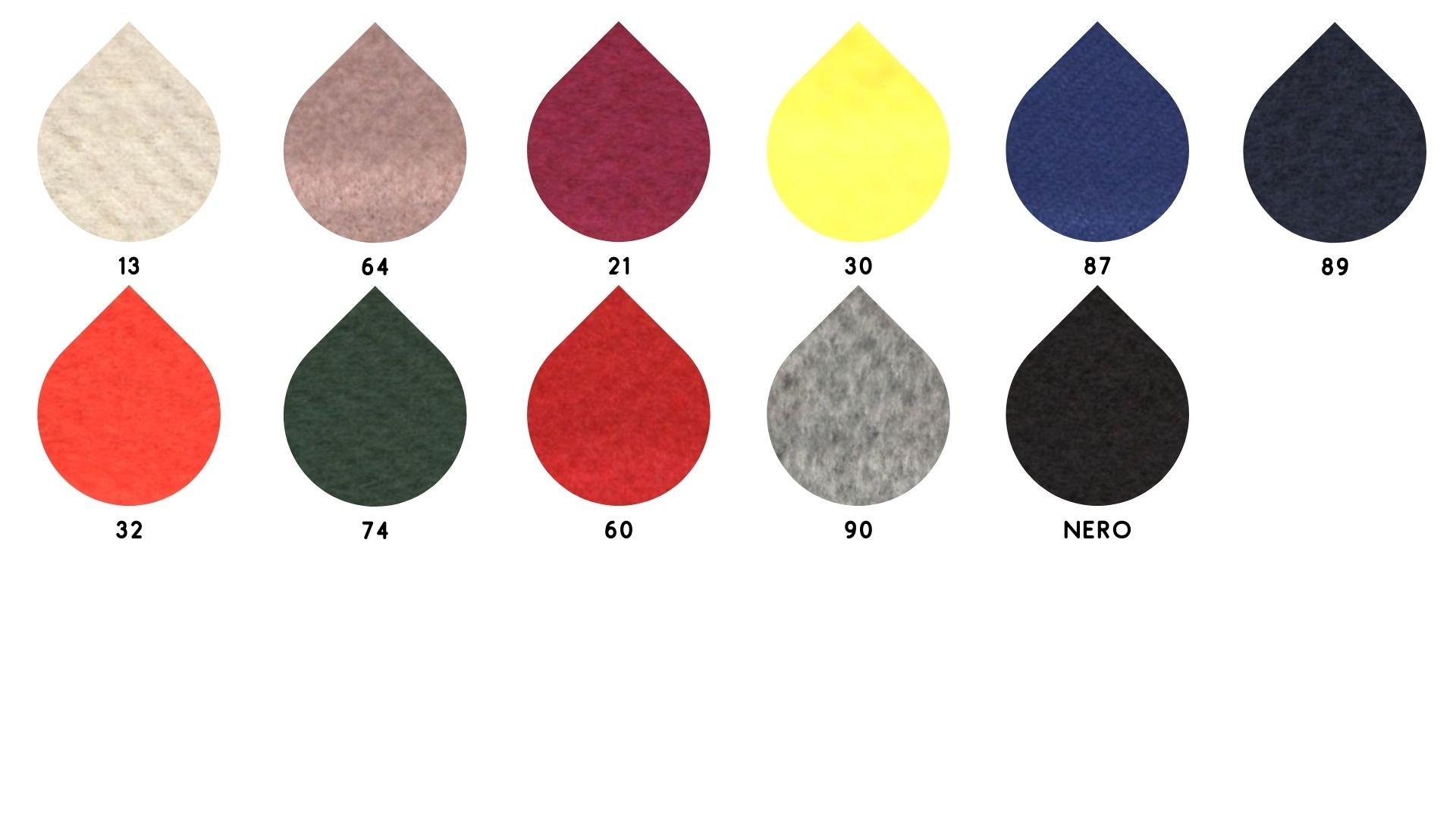 la cartella colore del tessuto nancy palto di Leadford & Logan