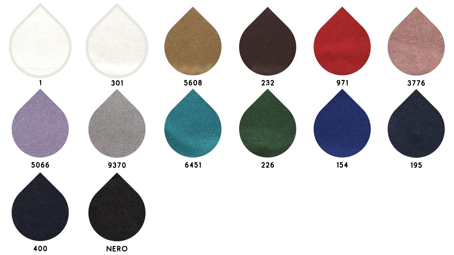 la cartella colore del tessuto parsifal di Leadford & Logan