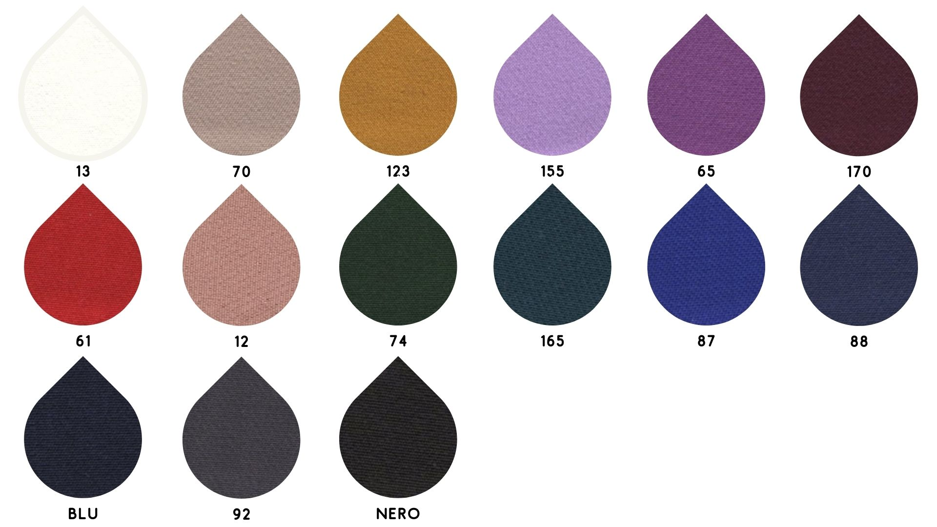 la cartella colore del tessuto praga di Leadford & Logan