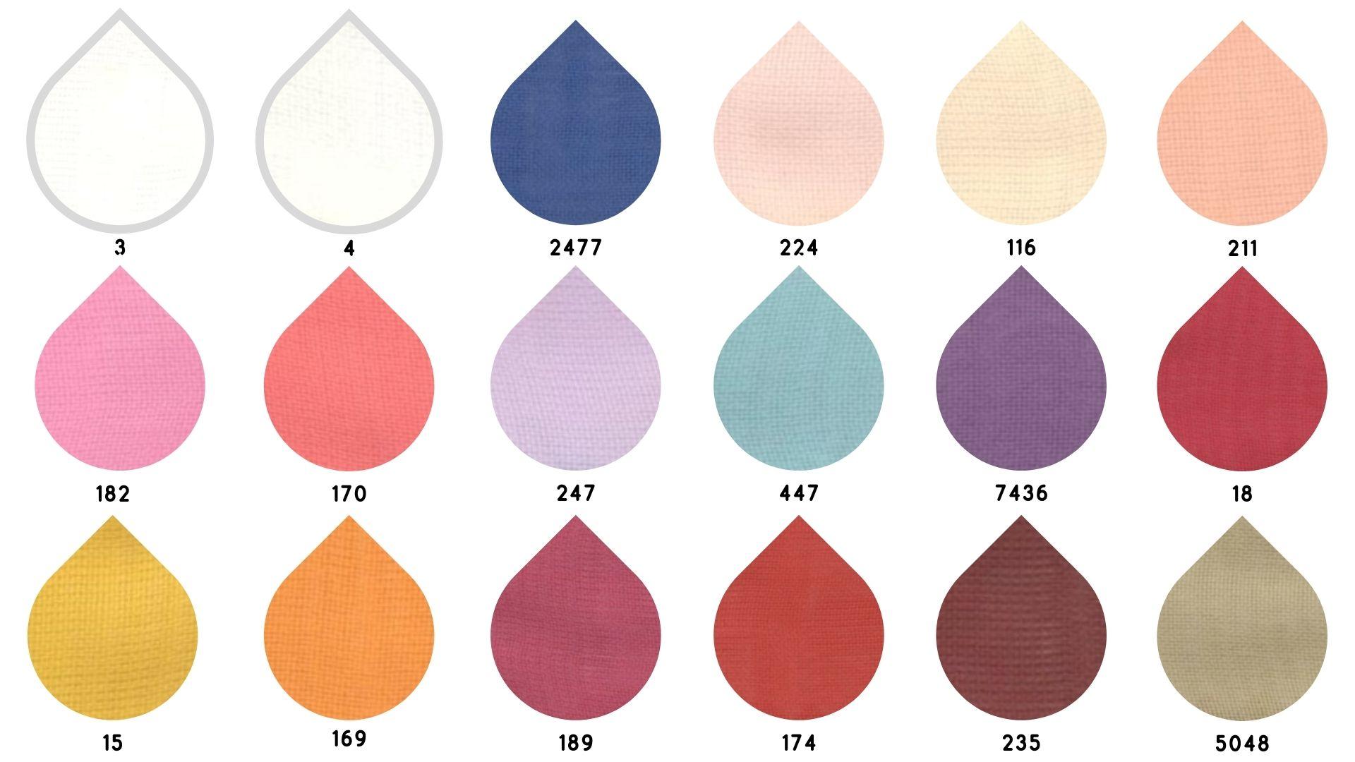 la cartella colore del tessuto superior smog single chiffon di Leadford & Logan