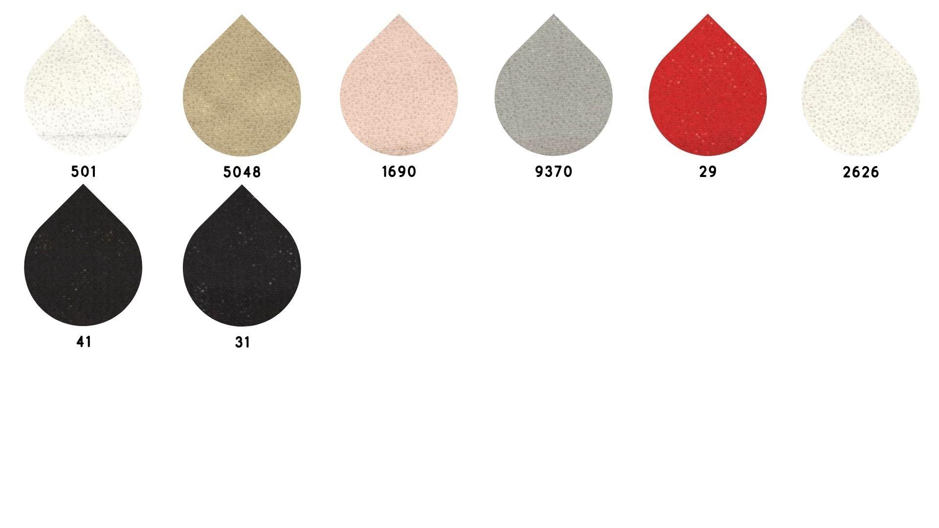 la cartella colore del tessuto superior smog foil chiffon di Leadford & Logan