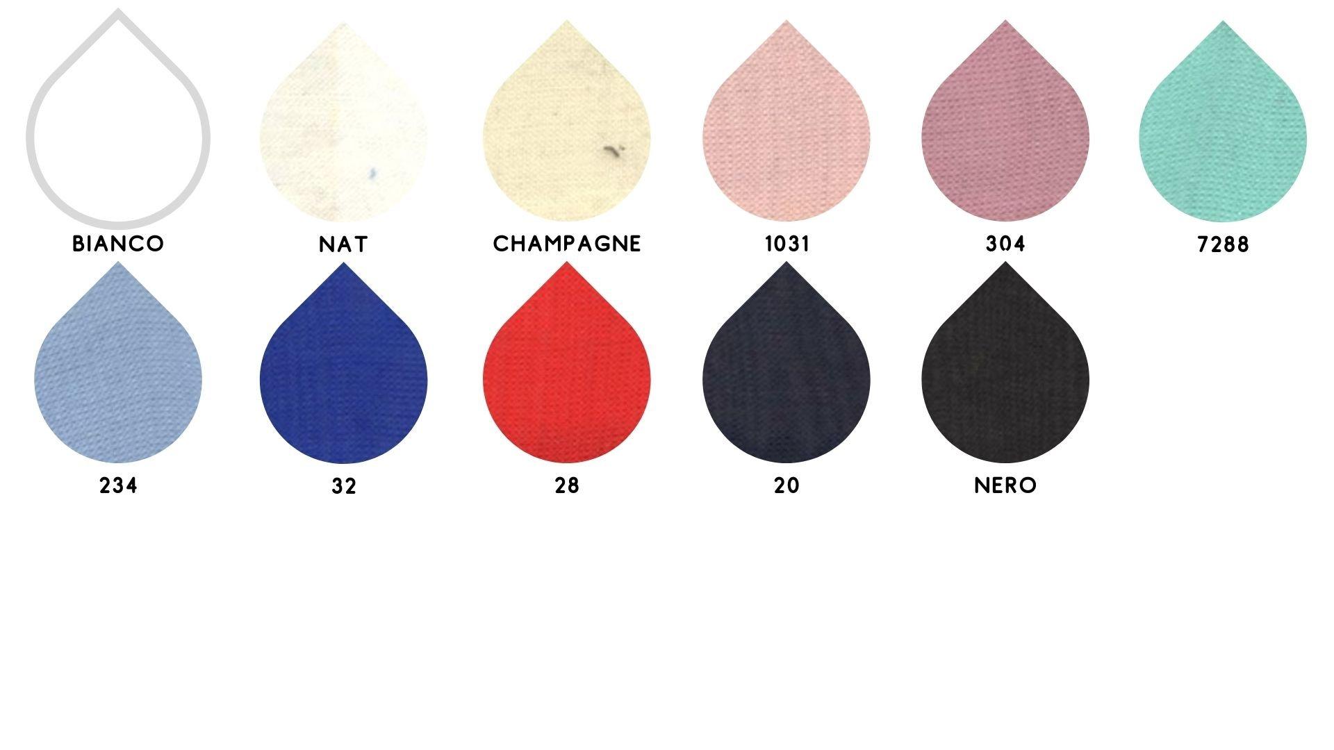 la cartella colore del tessuto tody chiffon di Leadford & Logan