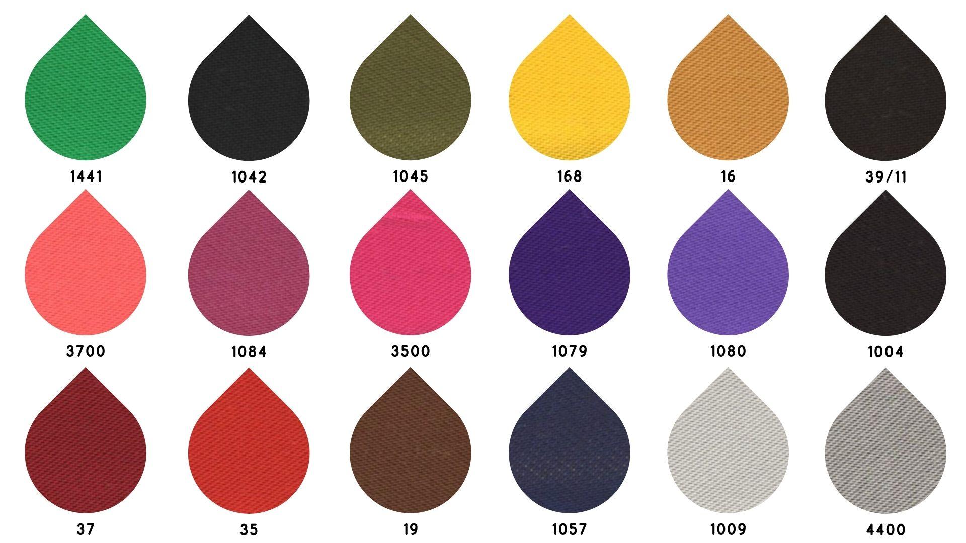la cartella colore del tessuto anzio di Leadford & Logan