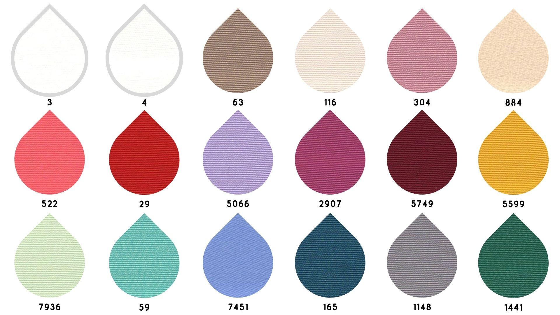 la cartella colore del tessuto charme di Leadford & Logan