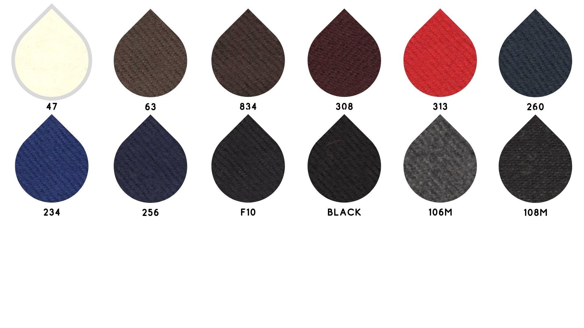 la cartella colore del tessuto flavia di Leadford & Logan