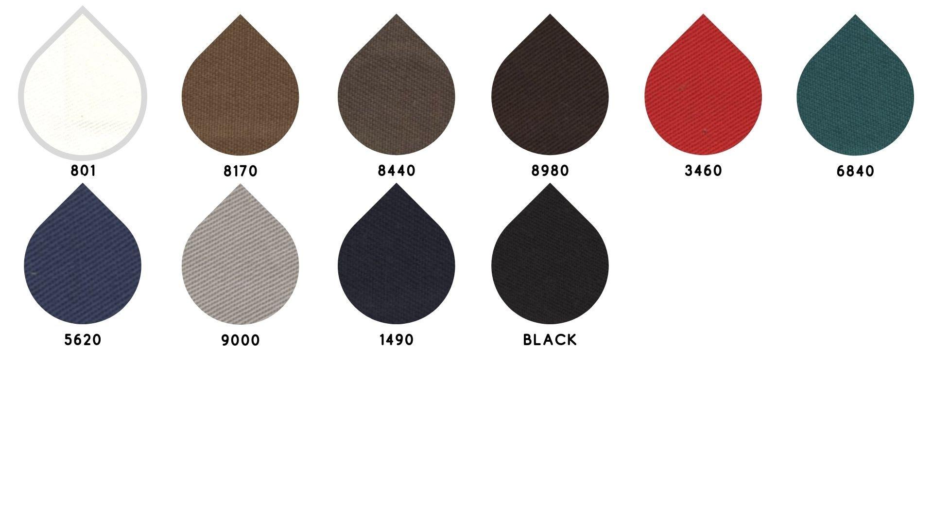la cartella colore del tessuto gabardilia di Leadford & Logan
