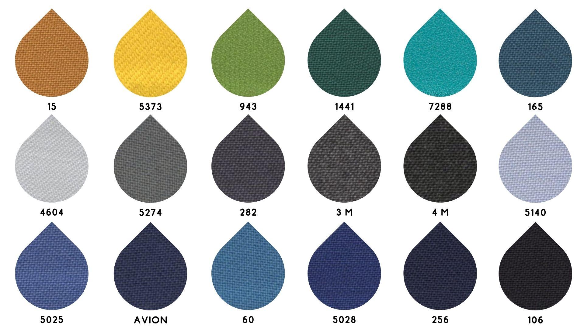 la cartella colore del tessuto 2685 di Leadford & Logan