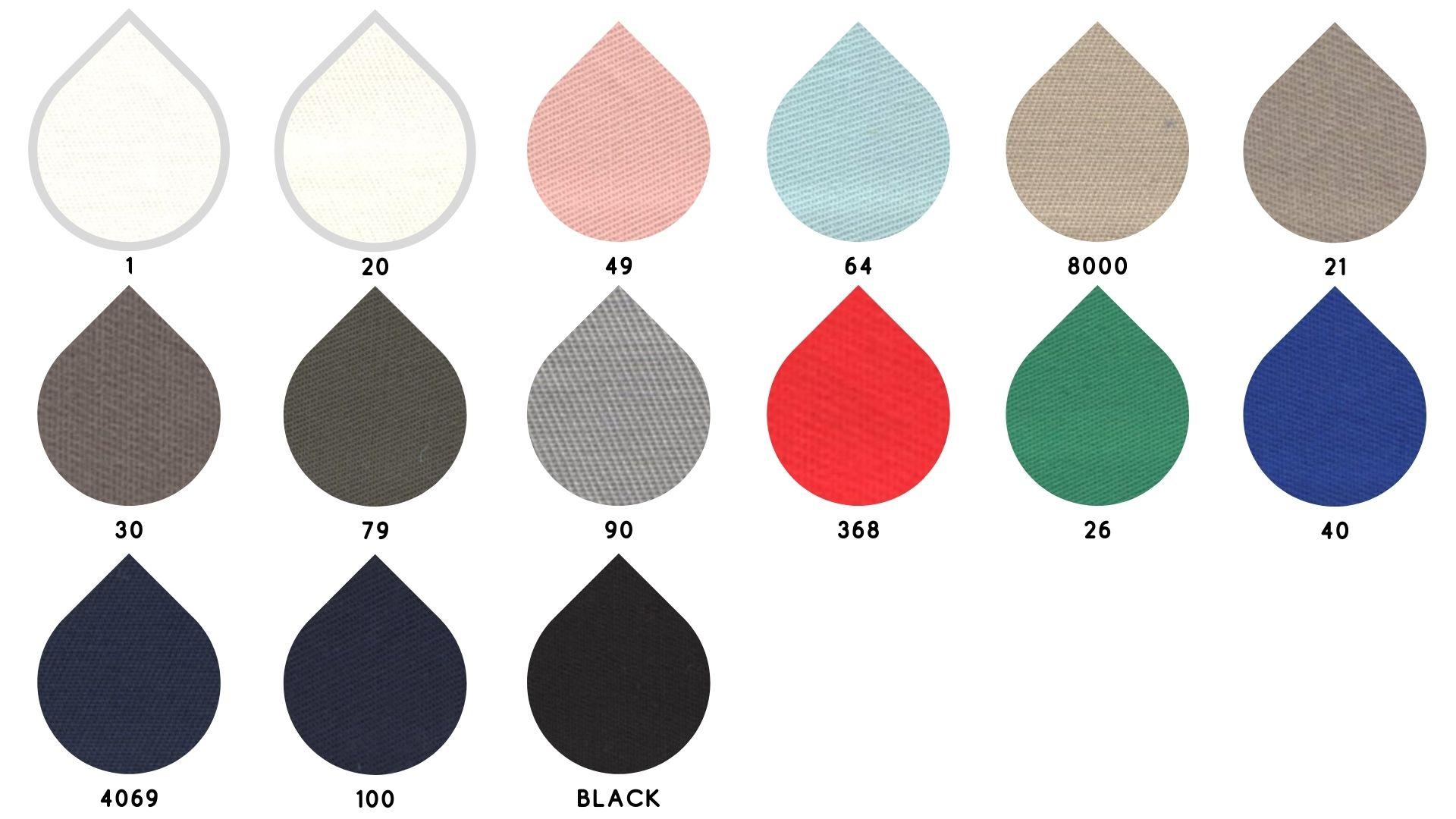 la cartella colore del tessuto dilia di Leadford & Logan