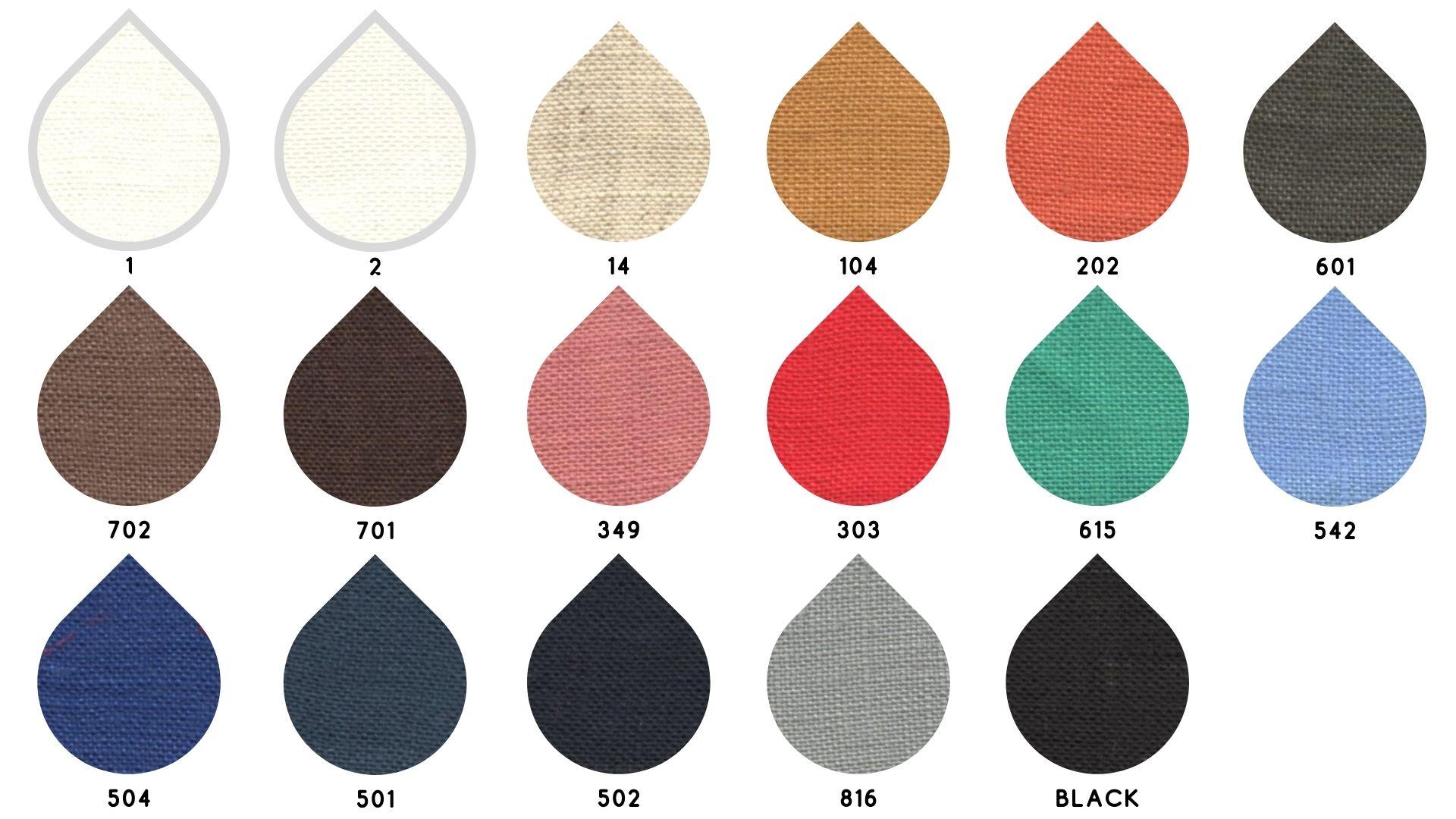 la cartella colore del tessuto dublino di Leadford & Logan