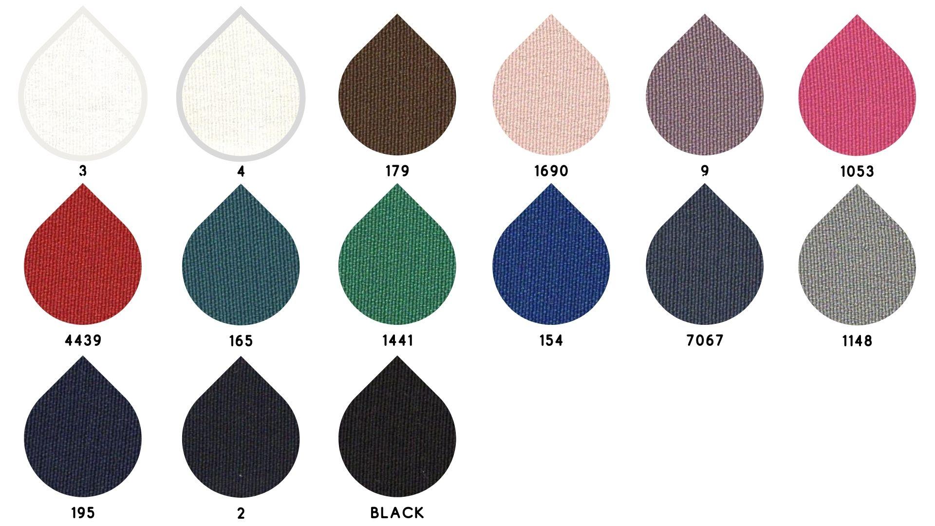 la cartella colore del tessuto poker di Leadford & Logan