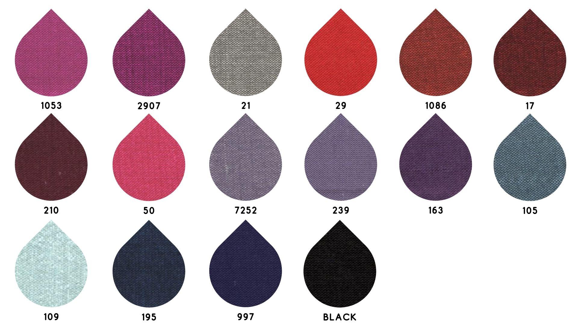 la cartella colore del tessuto machine di Leadford & Logan