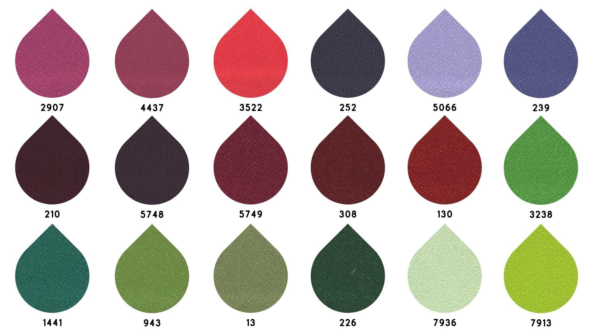 la cartella colore del tessuto pegaso di Leadford & Logan