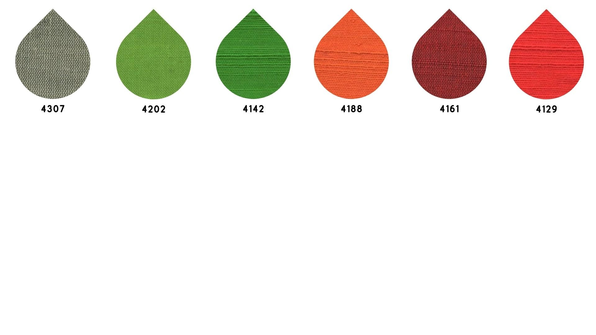 la cartella colore del tessuto superior smog shantung tex di Leadford & Logan