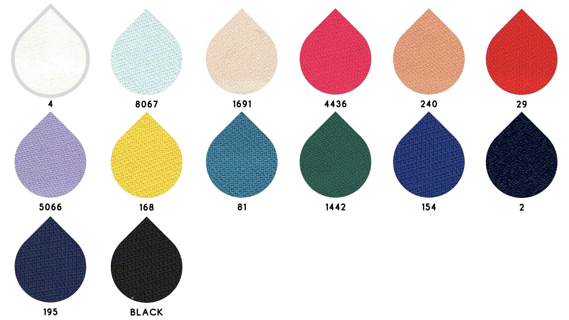 la cartella colore del tessuto suzanne di Leadford & Logan
