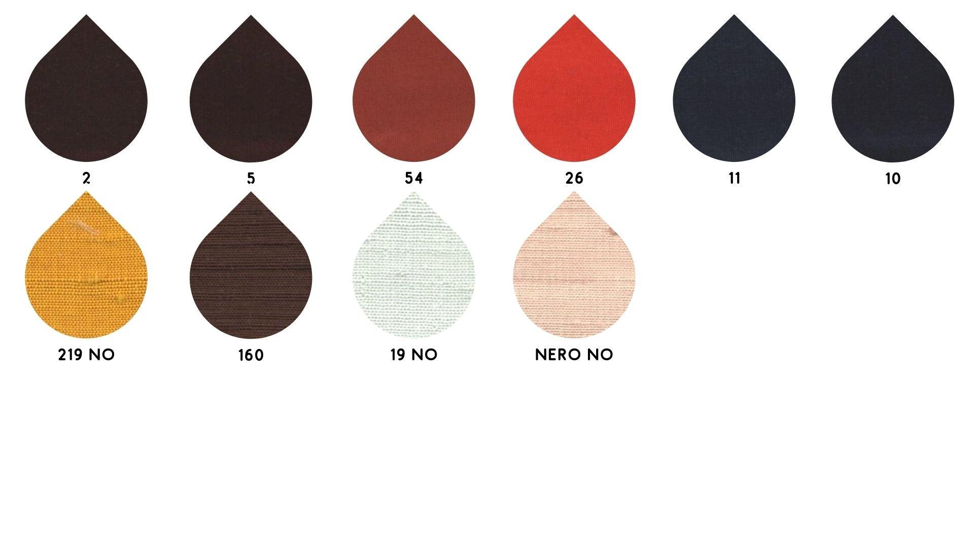 la cartella colore del tessuto taffetas u-145 di Leadford & Logan