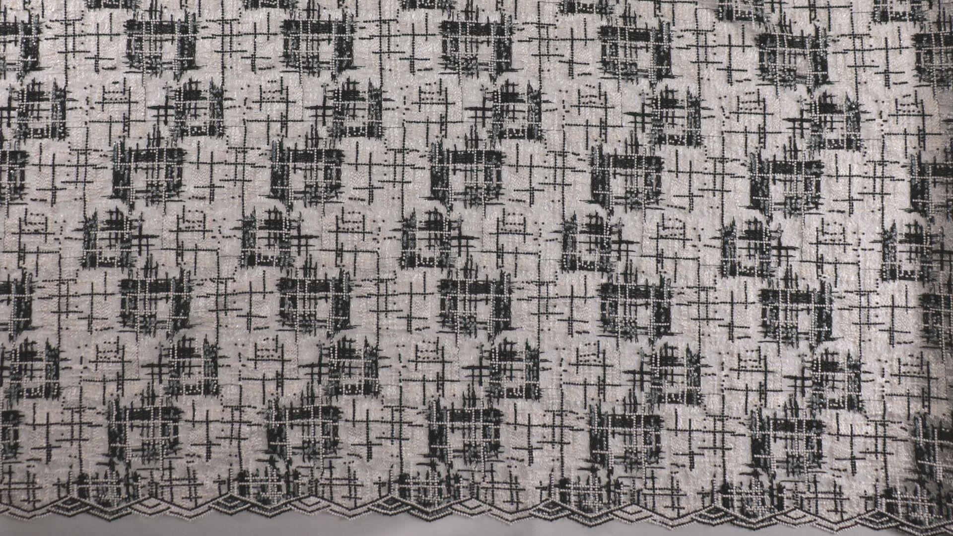 il particolare del tessuto dr7964, appartenente alla categoria ricami con accessori, di Leadford & Logan