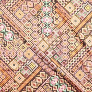 il particolare del tessuto ibiza, appartenente alla categoria stampe in cotone, di Leadford & Logan