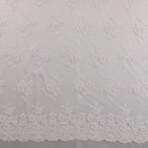 il particolare del tessuto lv8790, appartenente alla categoria ricami da sposa, di Leadford & Logan