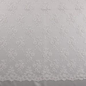 il particolare del tessuto lv9702, appartenente alla categoria ricami da sposa, di Leadford & Logan