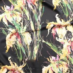 il particolare del tessuto positano, appartenente alla categoria stampe lino, di Leadford & Logan