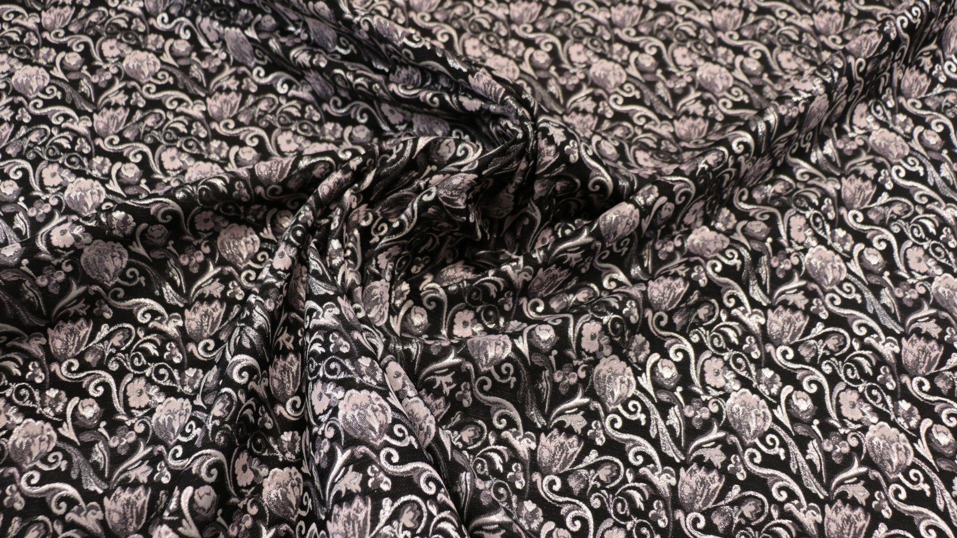il particolare del tessuto sunny, appartenente alla categoria fantasie broccati, di Leadford & Logan