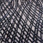 il particolare del tessuto sx414, appartenente alla categoria ricami paillettes, di Leadford & Logan