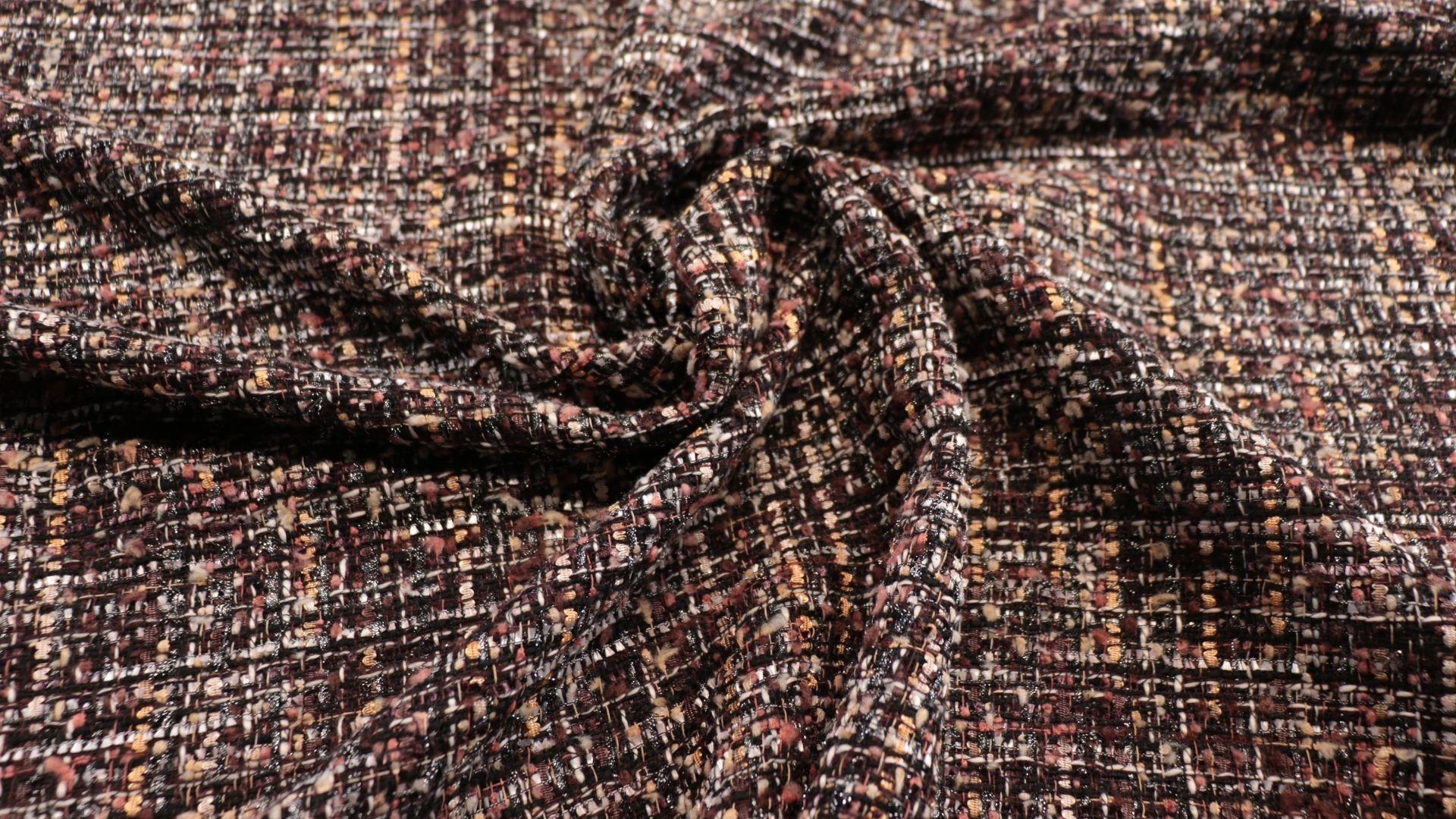 il particolare del tessuto teilleurs gertrude, appartenente alla categoria fantasie tailleurs, di Leadford & Logan