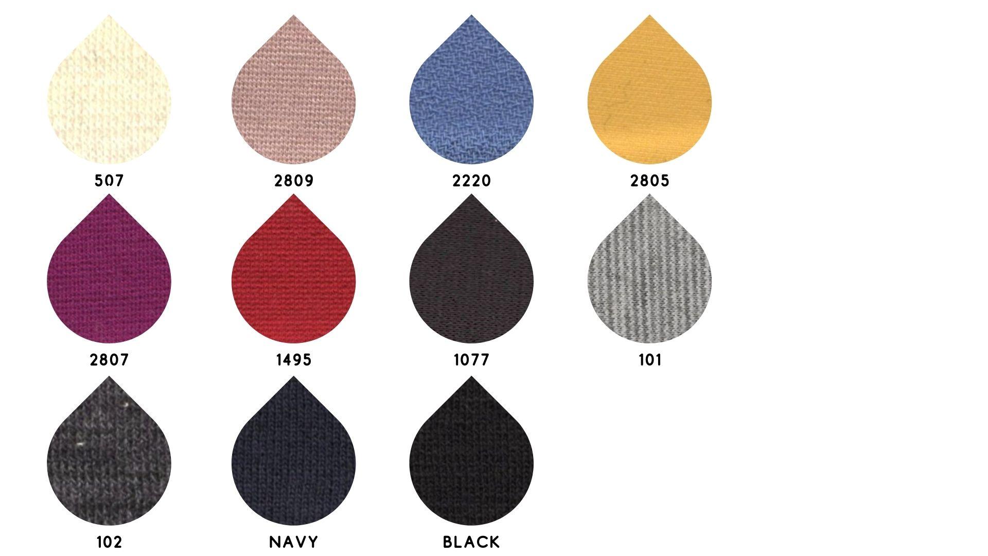 la cartella colore del tessuto venere di Leadford & Logan