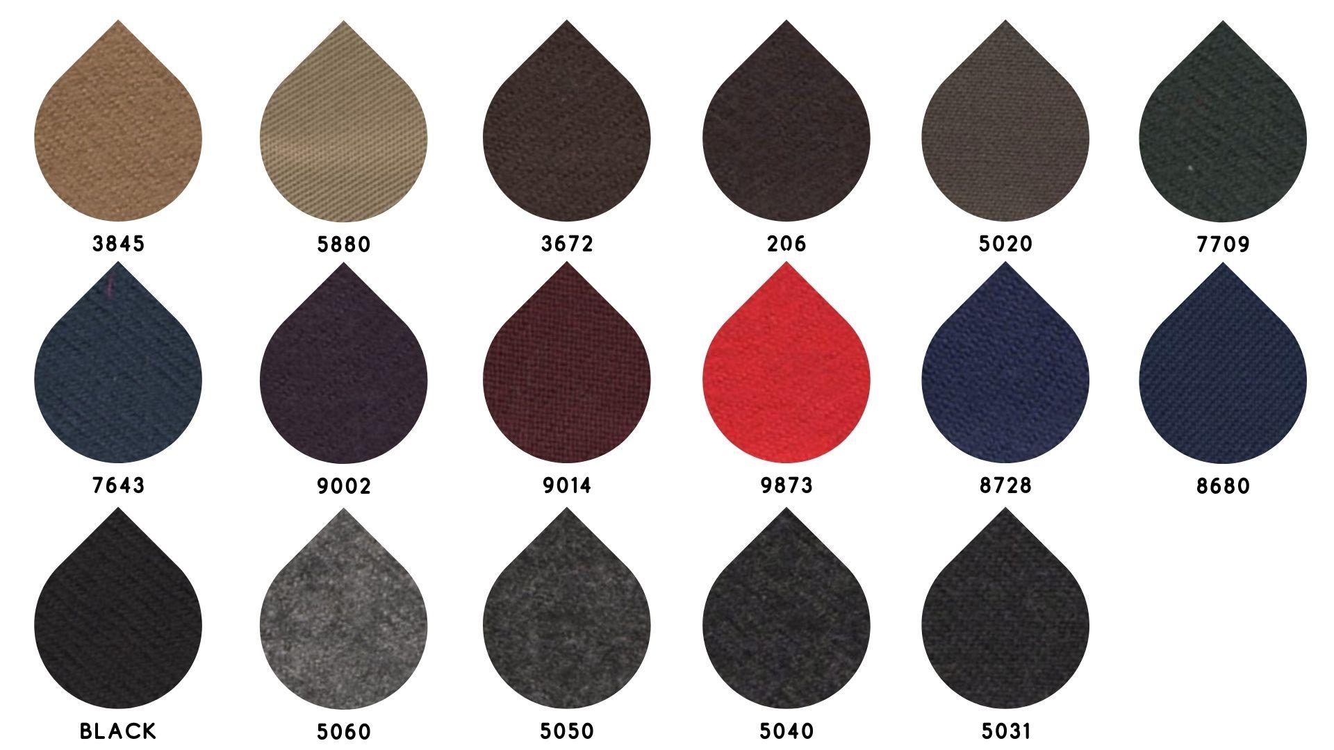 la cartella colore del tessuto 2481 di Leadford & Logan