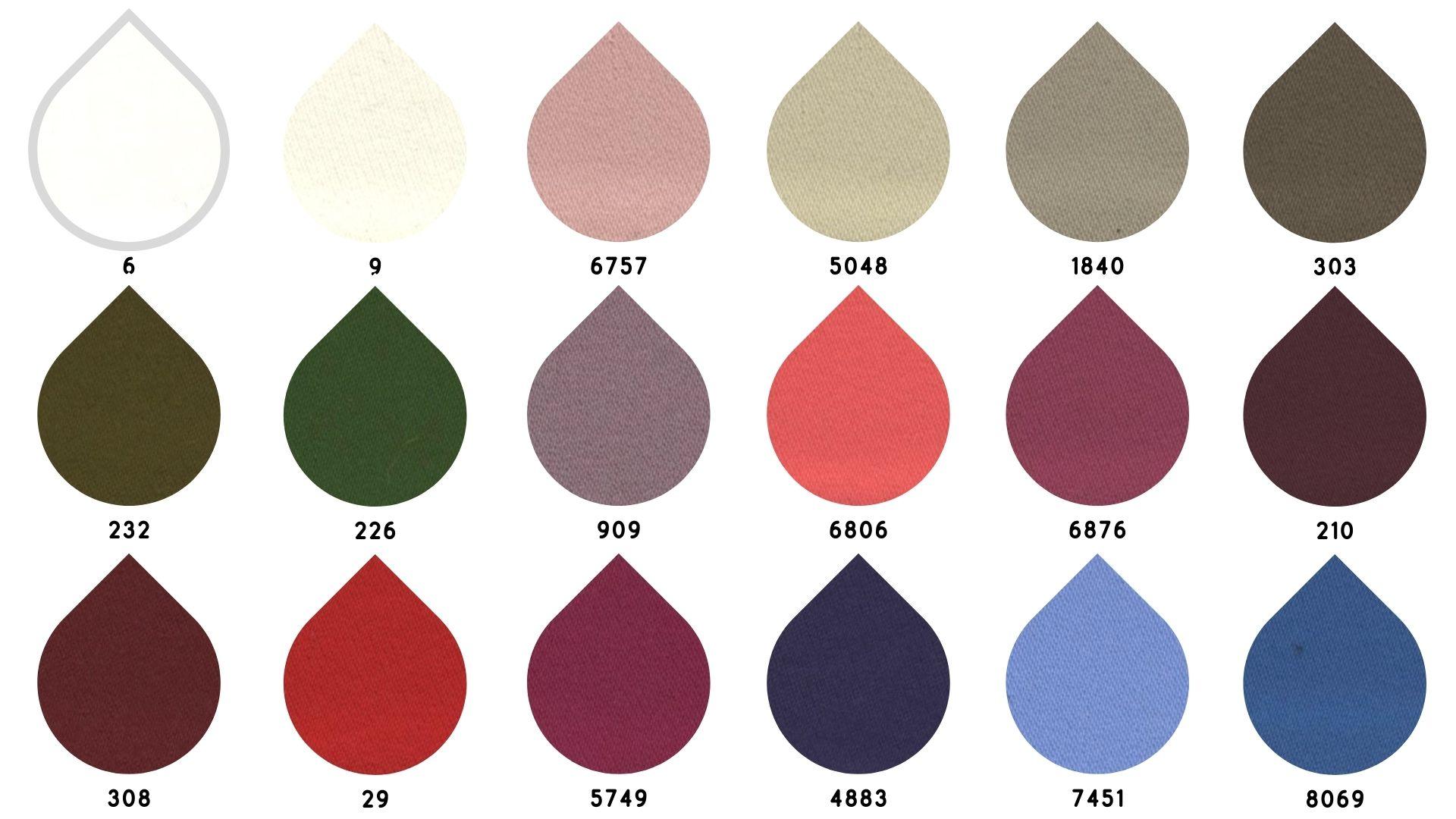 la cartella colore del tessuto losangeles di Leadford & Logan