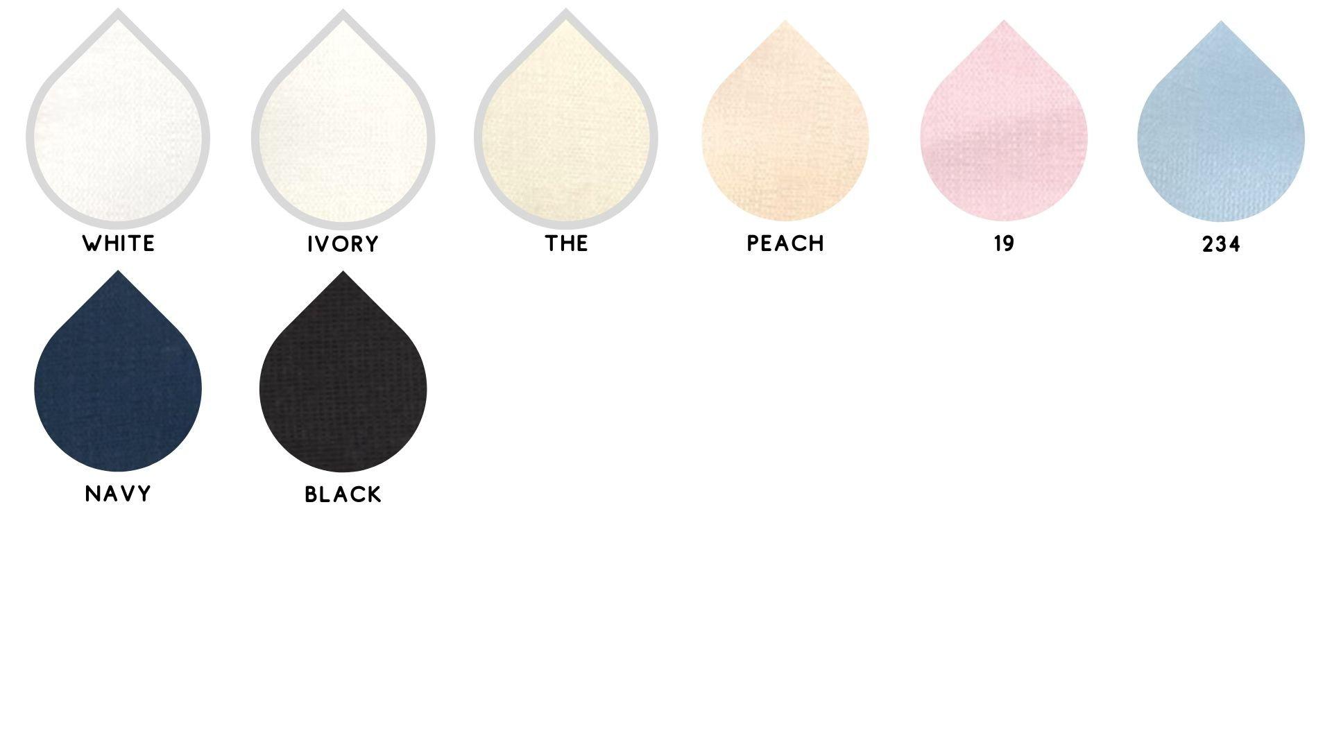 la cartella colore del tessuto ortel di Leadford & Logan