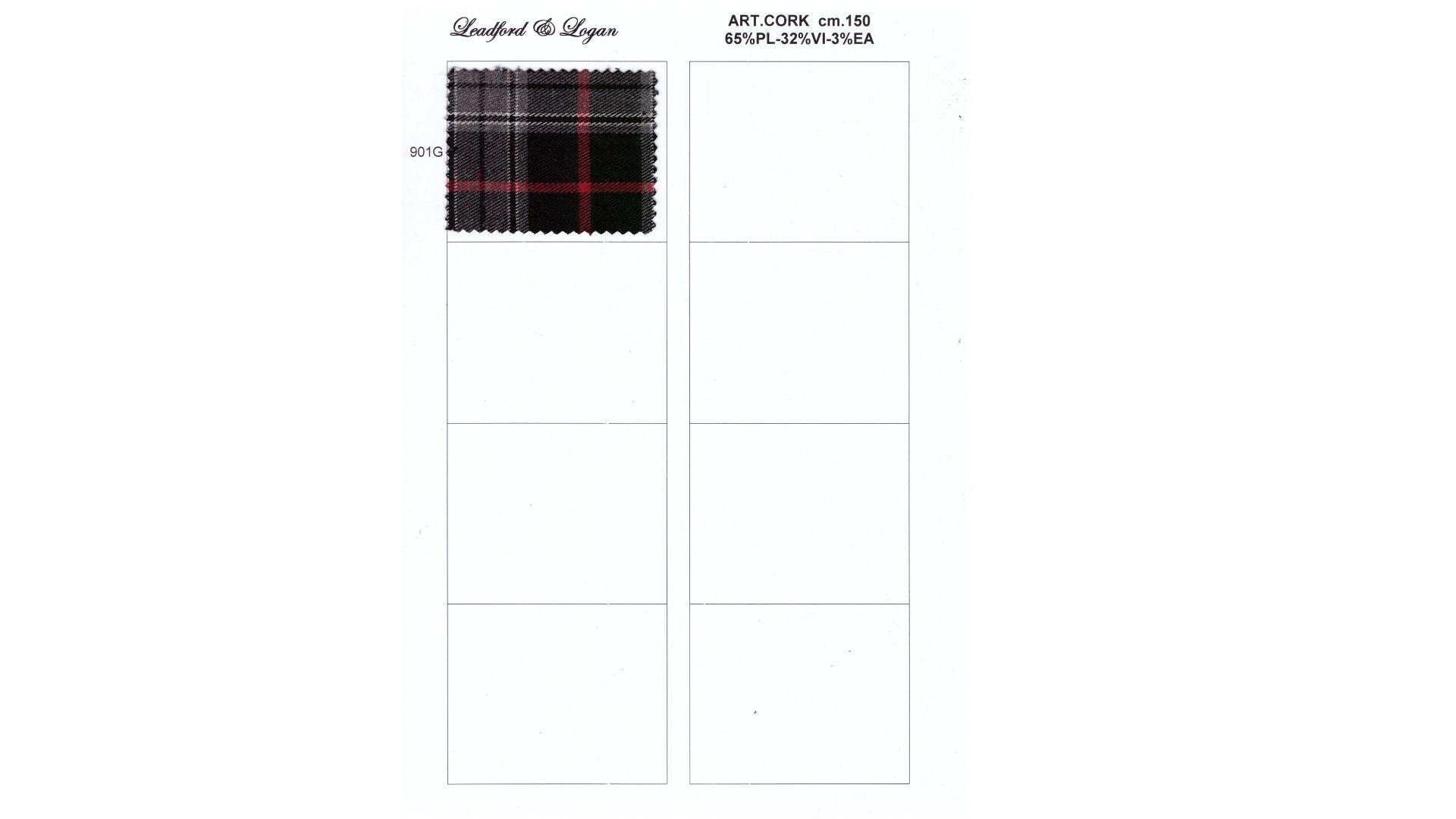 la cartella colore del tessuto cork di Leadford & Logan