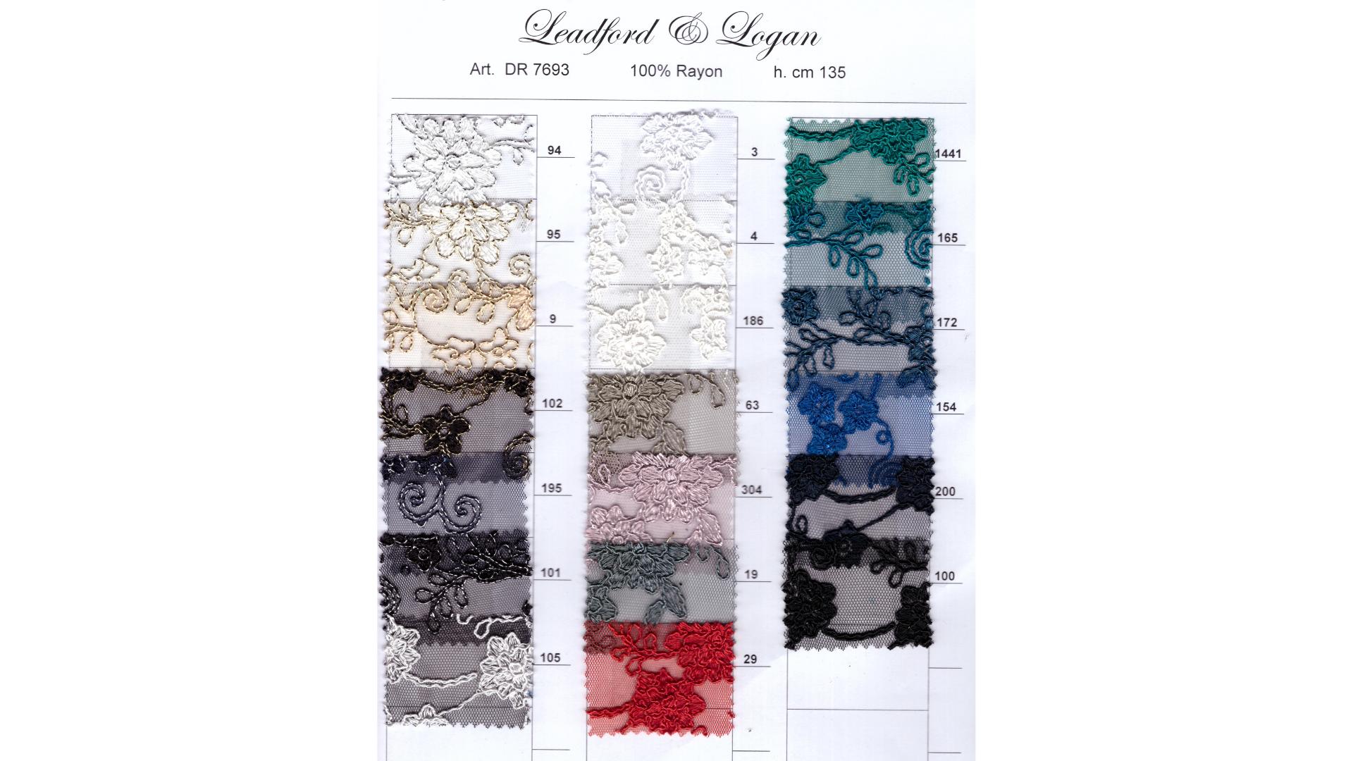 il particolare del tessuto dr7693, appartenente alla categoria ricami senza accessori, di Leadford & Logan